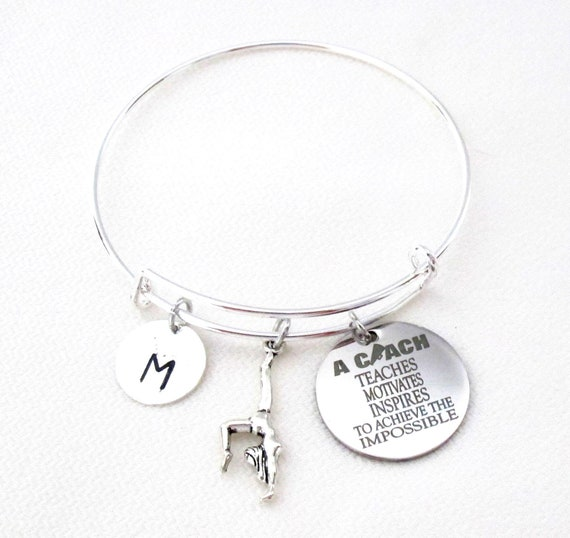 Coach Bracelet,Gift for Sports Coach,Personalized Coach gift,Gift for Coach,Gymnast bracelet,Thank you Gift,Coach's Gift,Free Shipping USA