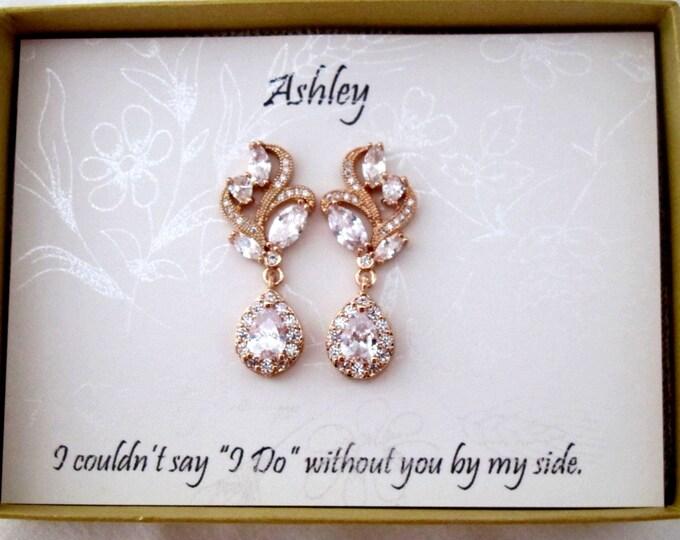 Crystal Bridal Earrings, Wedding earrings, Prom Earrings, Custom Drop Earrings, Crystal Bridal earrings, Wedding jewelry, Wedding Jewelry