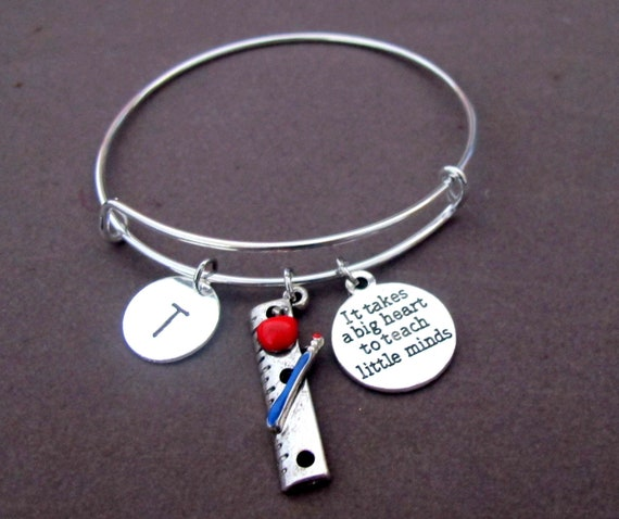 Teacher Appreciation Gift,It takes a Big Heart to Teach Little Minds, Personalized Thank You Teacher,End of the Year Gift, Free Shipping USA
