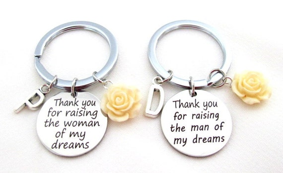 Mother of the groom gift,Mother of the groom KeyChain,Mother of the bride Keychain,Thank you for raising  man of my dream,Free Shipping USA