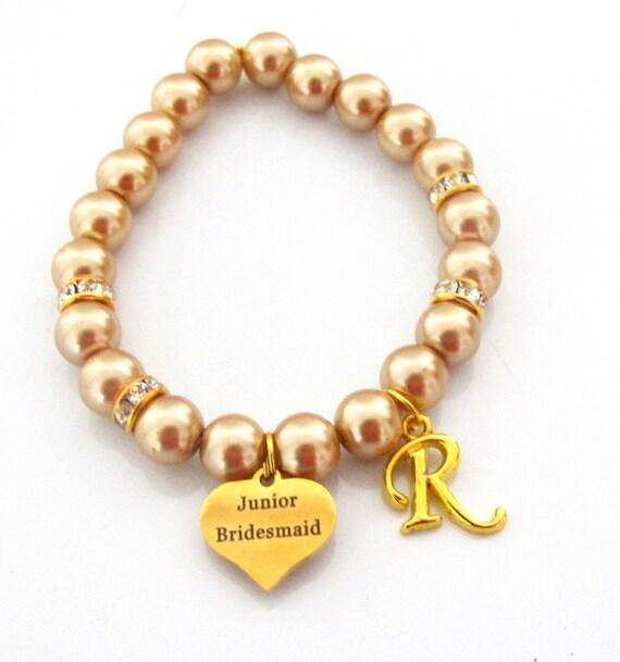 Will You Be My Junior Bridesmaid,Junior Bridesmaid Bracelet,Gold theme Bracelet,Wedding Jewelry,Junior Bridesmaid Gift, Free Shipping In USA