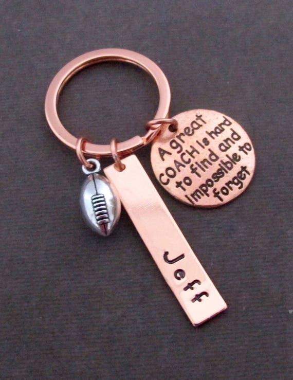 Personalized Coach keychain,football key chain,Football Mom gift,Senior Gift,Give Your Coach A Thank You Gift,Customizable Keychains