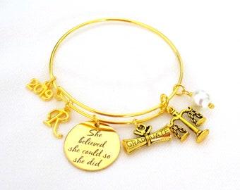 Lawyer Graduate gift, Lawyer Bracelet,Law Student Bracelet,2021 Graduation Bracelet,,Rose gold Bangle,Scales Justice Graduate Bracelet,