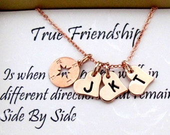 Sister Gift Sister Necklace,Compass Necklace sorority best friend,gifts for sister,birthday gift,sister in law,sister gift,Free Shipping USA