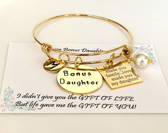 Bonus Daughter Bracelet, Step daughter Gift, Daughter of the Groom gift, Daughter of Bride Gift, Daughter In Law gift, Free Shipping In USA