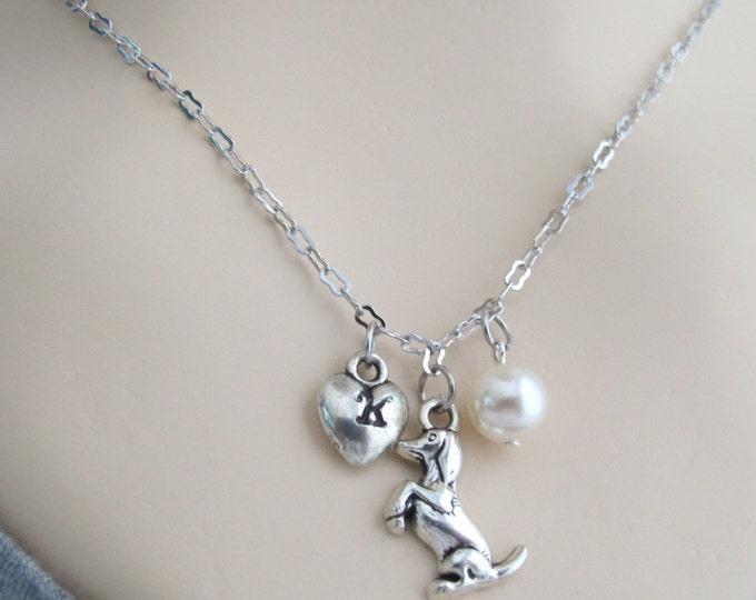 Cute Dog Necklace,Children's Cute Puppy Dog,Initial necklace,Animal initial Necklace Pet Dog Necklace Cute Dog Necklace Free Shipping In USA