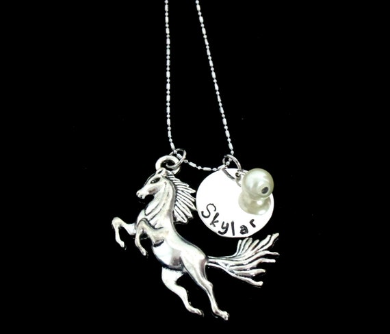 Horse Necklace,  Pet Horse Jewelry,Horse Necklace, Personalized Pet Charm, Personalized Horse Necklace, Gift for Horse Lover, Gift for Niece