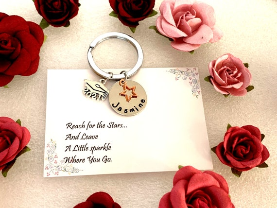 GRADUATION gift, 2021 keychain. Shoot For The Stars. Graduation 2021 gift, Gift for Her, Gift for him,Son Gift For Graduate, Graduation gift