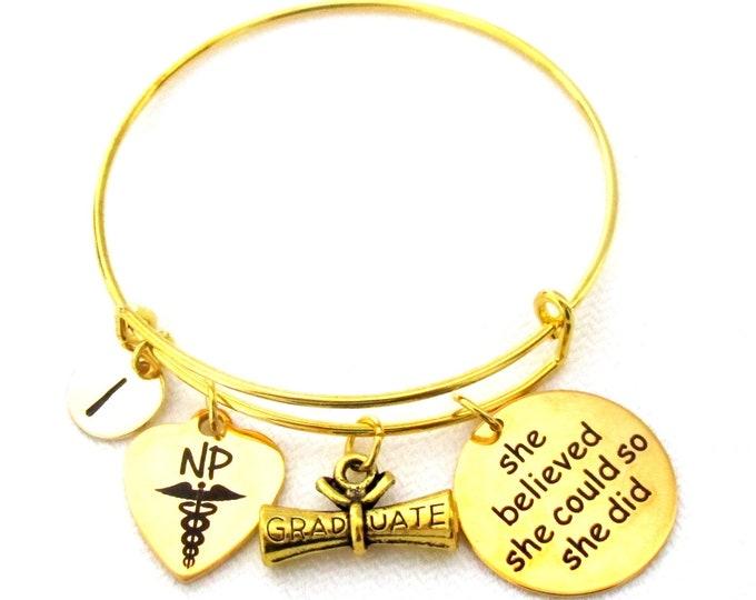 Medical Student Bracelet. Nurse practitioner bracelet, Nurse practitioner gift,NP graduate,NP nurse gift, 2021 Medical Graduate gift