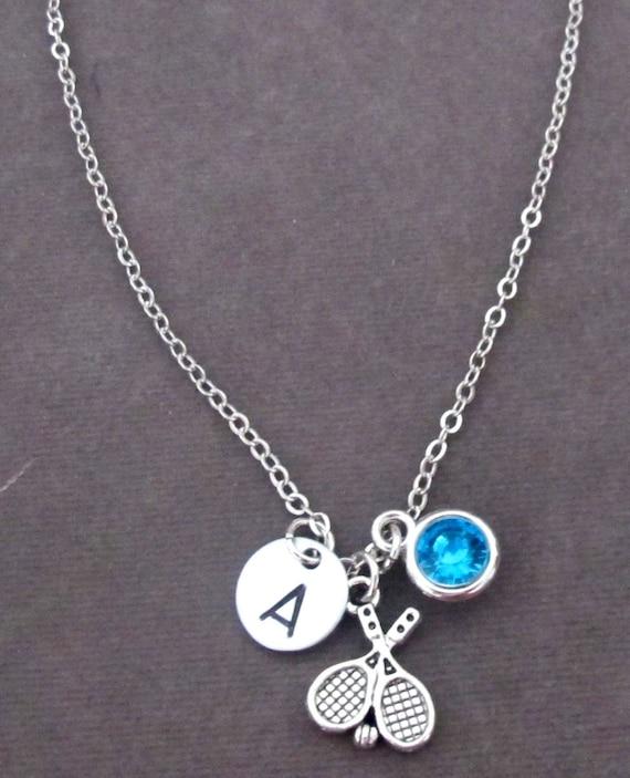 Tennis Necklace,Sport Jewelry,Tennis Team Necklace,Tennis Gift Tennis Jewelry,Personalized sport Jewelry,Tennis Coach Gift,Free Shipping USA