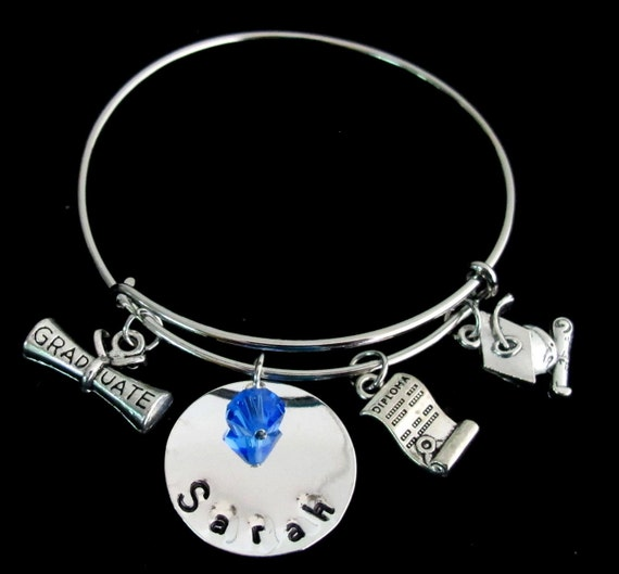 Graduation Bracelet-Expandable Bracelet Diploma Charm Bracelet Graduation Cap Bracelet 2019 Graduation Bracelet Free Shipping USA