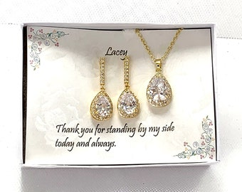 Mother of the groom gift, Mother of the Bride gift, Rose gold wedding jewelry, Gold wedding jewelry, MOB Jewelry, MOG Jewelry
