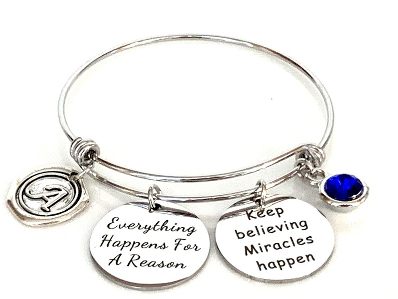Everything Happens for a reason Expandable Bangle Divorce image 1