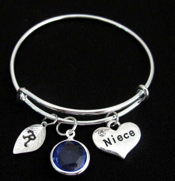 Niece Bracelet, Gift for Niece, Niece Jewelry,  Niece Charm, Niece Pendant, Niece Jewelry,Children Bangle Bracelet,  Free Shipping USA