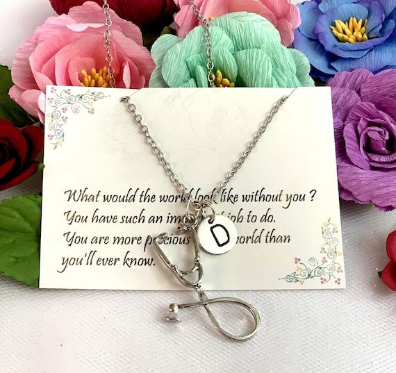 Stethoscope Necklace, Silver Stethoscope,Rose Gold Stethoscope,Doctor Nurse Gift, Medical Student Gift,Nursing Gift,Appreciateion Gift