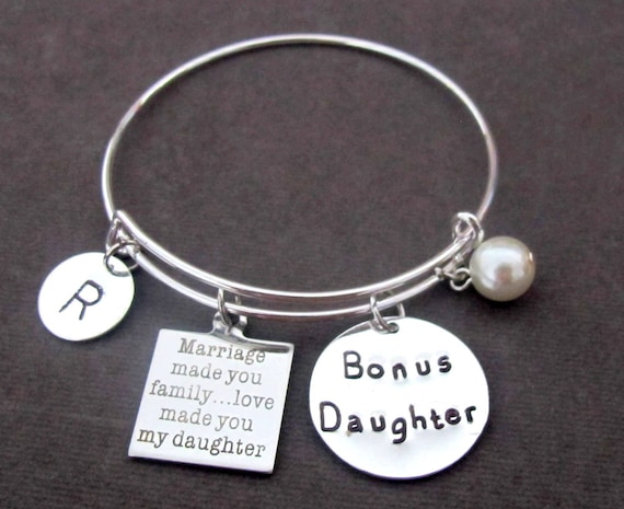 Bonus Daughter Bracelet, Step daughter Gift, Daughter of the Groom gift, Daughter of Bride Gift, Daughter In Law gift, Free Shipping In USA