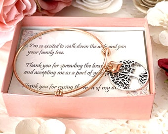 Mother of the Groom Gift, Mother in Law Gift, Mother in Law, Wedding Gift, Mother of the Bride, Future Mother in Law Gift, Rose gold bangle