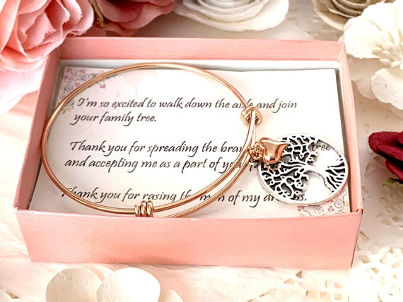 Mother of the Groom Gift, Mother in Law Gift, Mother in Law, Wedding Gift, Mother of the Bride, Future Mother in Law Gift, Rose gold bangle,