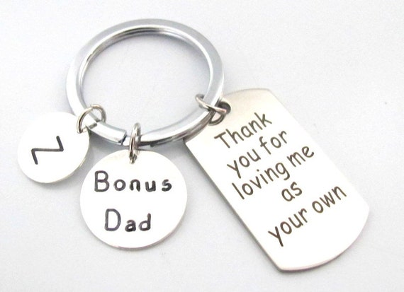 Bonus Dad Gift Keychain,Step Dad Gift,Father's Day Gift, GodFather Gift, Step Daddy Key Chain, Father In Law Gift, Free Shipping In USA