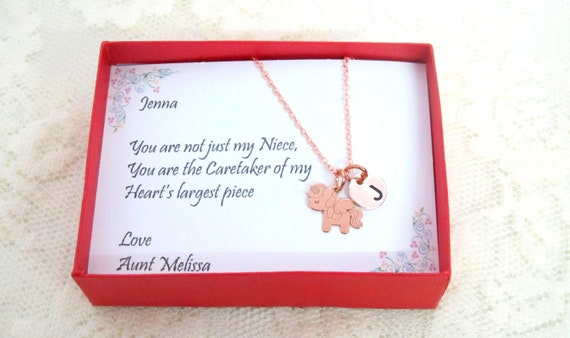 Unicorn  necklace, Little Pony Necklace, Personalized Horse Gift Pony Necklace,Sterling Silver Pony Pendant,Birthday Gift • Girl Jewelry