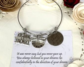 2021 Graduation gift for her, Graduation gifts for girls, Personalized graduation Bracelet, 2021 High School graduation, College Graduation
