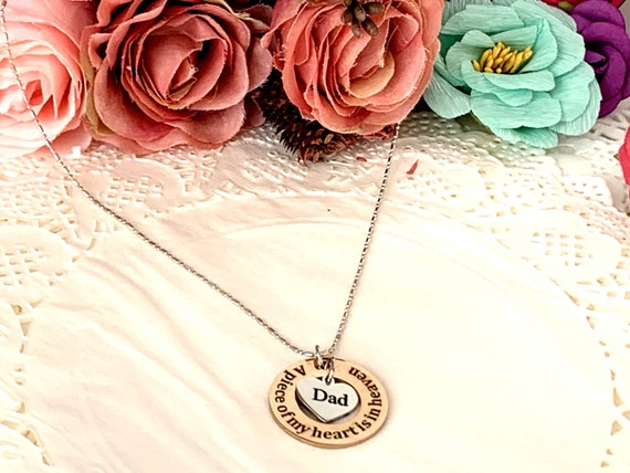 Memorial Necklace, Memory of Mom & Dad, Remembrance Necklace, Loss of Mom, Loss of Dad, Memorial Jewelry,Personalized Cremation Necklace