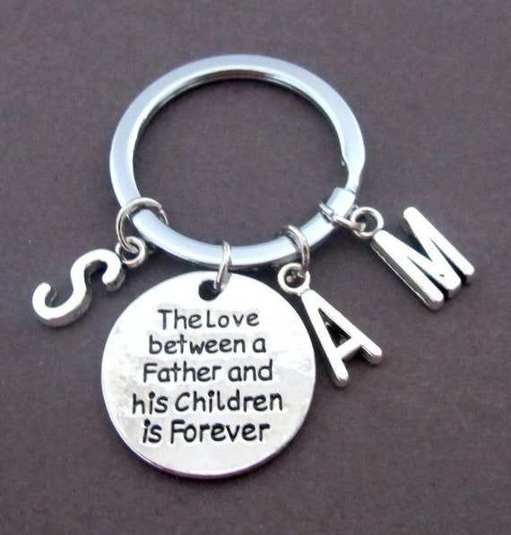 The Love between a Father and his Children is forever,Father's day gift,Personalized daddy Keychain,Christmas gift for dad,Free Shipping USA