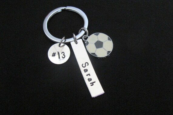 Personalized Soccer keychain,Soccer Team Gifts - School Sports Theme,Boys Soccer Gift -Girls Soccer Team Gift,Soccer Gift for soccer player,