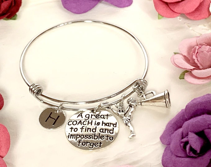 Personalized Coach Bracelet,A great Coach is hard to find and impossible to forget, Gift for Coach, Cheer Coach Gifts, Free Shipping In USA