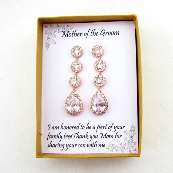 Bridal Eearrings, Bridesmaid Earrings,Bridal long drop Earrings,  Tear Drop  Earrings, Wedding Earrings, Mother of the bride set, Mom Gift
