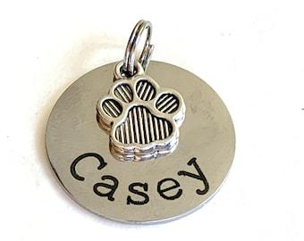 Pet dog tag, dog ID Tag, Personalized petCat dog ID tag, puppy tag, Custom dog tag in Rose Gold Dog Tag, Gold Dog Tag,Silver tag Engraved ID