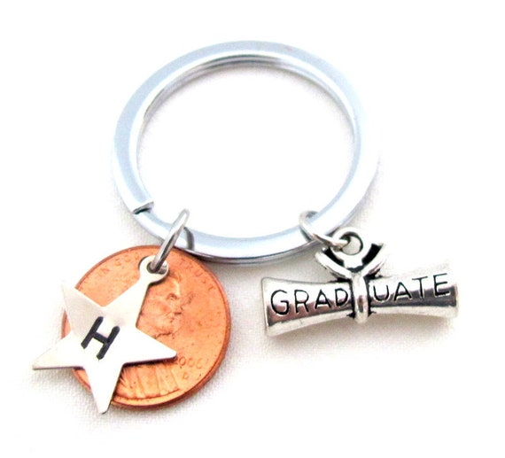 2020 Graduate, Personalized ,Graduation Kechain,2020 Penny Grad Gift for him,Class of 2020,,Gift for Graduate,2020 Collgege Graduation gift,