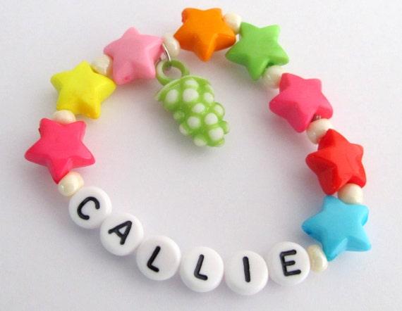 Party Favors Bracelet Personalized Colorful Star Bracelet Girls Name Bracelet Children Jewelry Party Favor Infant Child Kid