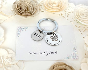 Pet Memorial Keychain, Memory of Pet,Pet Remembrance, Silver, Dog Memorial, Personalized Pet, Loss of Pet, Dog Loss Gift, Pet Tag Gift