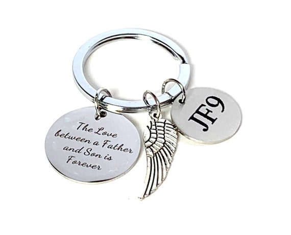 Memorial Keychain,Custom Engrave  Father's keychain. Loss of parent. Sympathy gift,  Loss of Loved One Keychain, Remembrance gift,Memorial