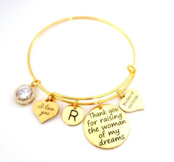 Custom initial bracelet,Gift for Mom,Personalized Initial bracelet,Mother of the bride gift,Bracelet for wedding,Monogram ,Free Ship USA