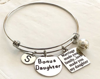 Step Daughter, Wedding Adoption Bracelet, Daughter jewelry  Life gave me you Gift from Step Mom, Daughter of Groom, Daughter of Bride