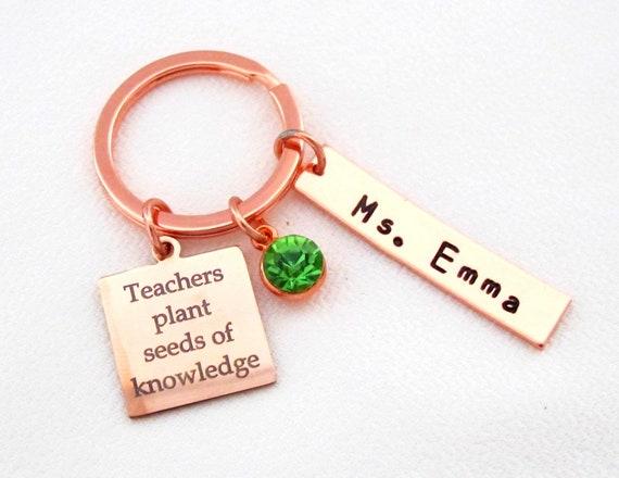 Teacher Keychain,Personalized Gift for Teacher,Teacher Appreciation Gift,Back to School, Teacher gift,Teach Love Inspire, Free Shipping USA