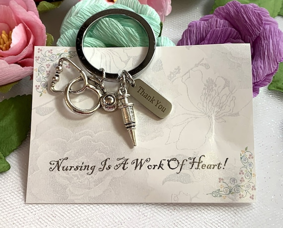 Nurse Appreciation Gift, Nurse Thank You Keychain,Employee Gift Coworker Gift,Work Team Gift,Thank you Gift, Medical Staff Appreciation Gift