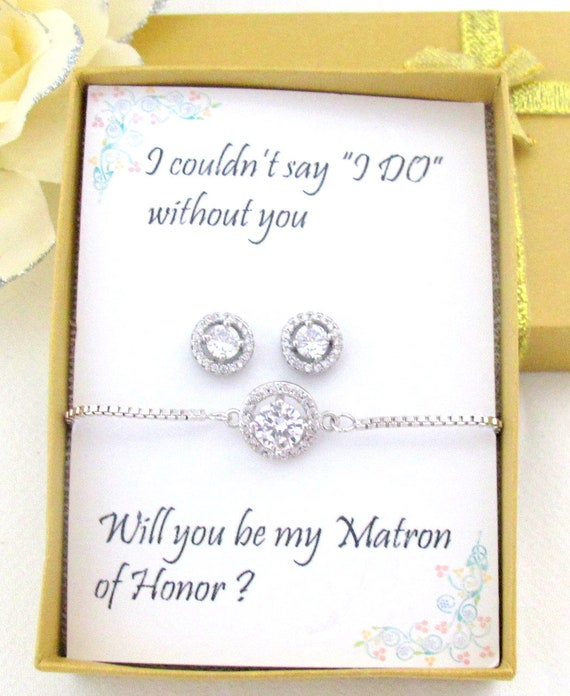 Cubic Zirconia Bracelet Set,Custom Color CZ earrings set,Bridesmaid earrings,CZ earrings and bracelet set,Wedding Jewelry, Free Shipping USA
