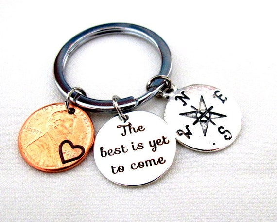 The best is yet to come,Graduation Keychain,School Student Graduation,High School grad,Compass Keychain,Inspirational Gift,Free Shipping USA