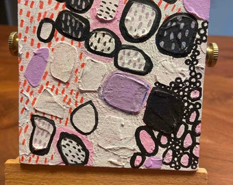 4x4 Abstract Bubbles I Original Abstract Painting I Art For Sale Cincinnati, OH I Acrylic Art for sale by fine artist Wendy Owens