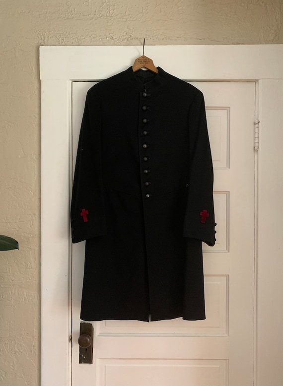 Auth 1870s Antique VICTORIAN Military Clergy Overc
