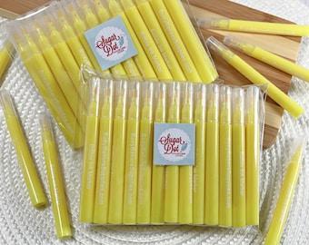 Yellow Mini Edible Markers Pens - 25 or 100