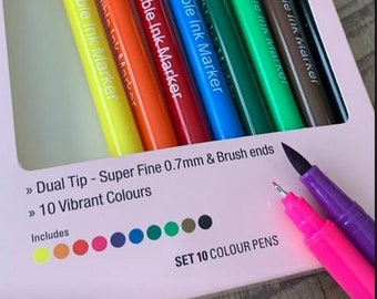 Rainbow Edible Food Marker Pens from Corianne - Dual Tip