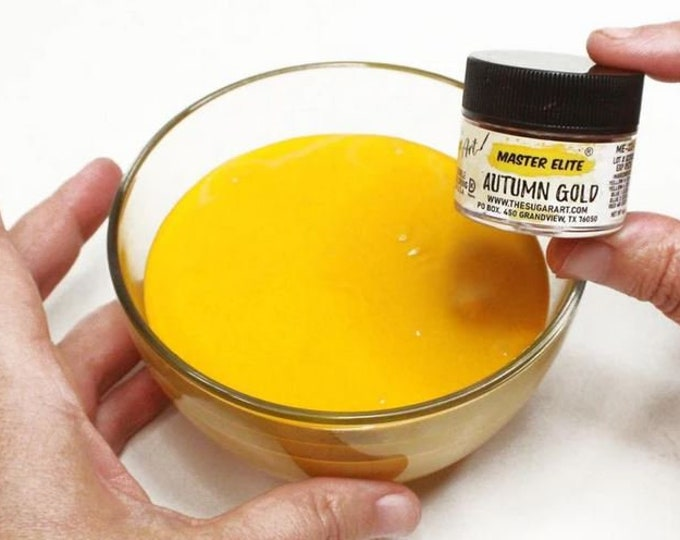 Autumn Gold Master Elites Food Color from The Sugar Art - small 4g jars