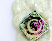 Fused Glass and Dichroic Glass Pendant