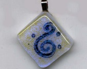 Fused Glass and Mica Spiral