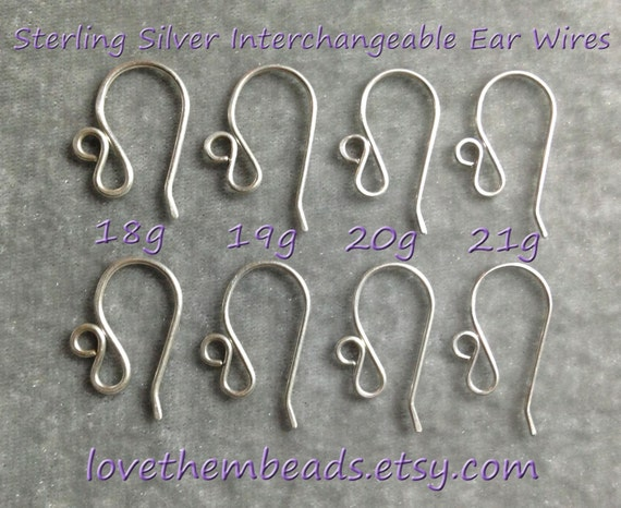 ear wires Argentium Sterling silver ear wires shephard hooks findings. Sterling silver ear wires Argentium ear wires 935 ear wires