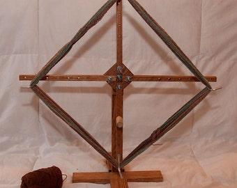 Solid Oak Yarn Swift/Winder - Freestanding, vertical, upright